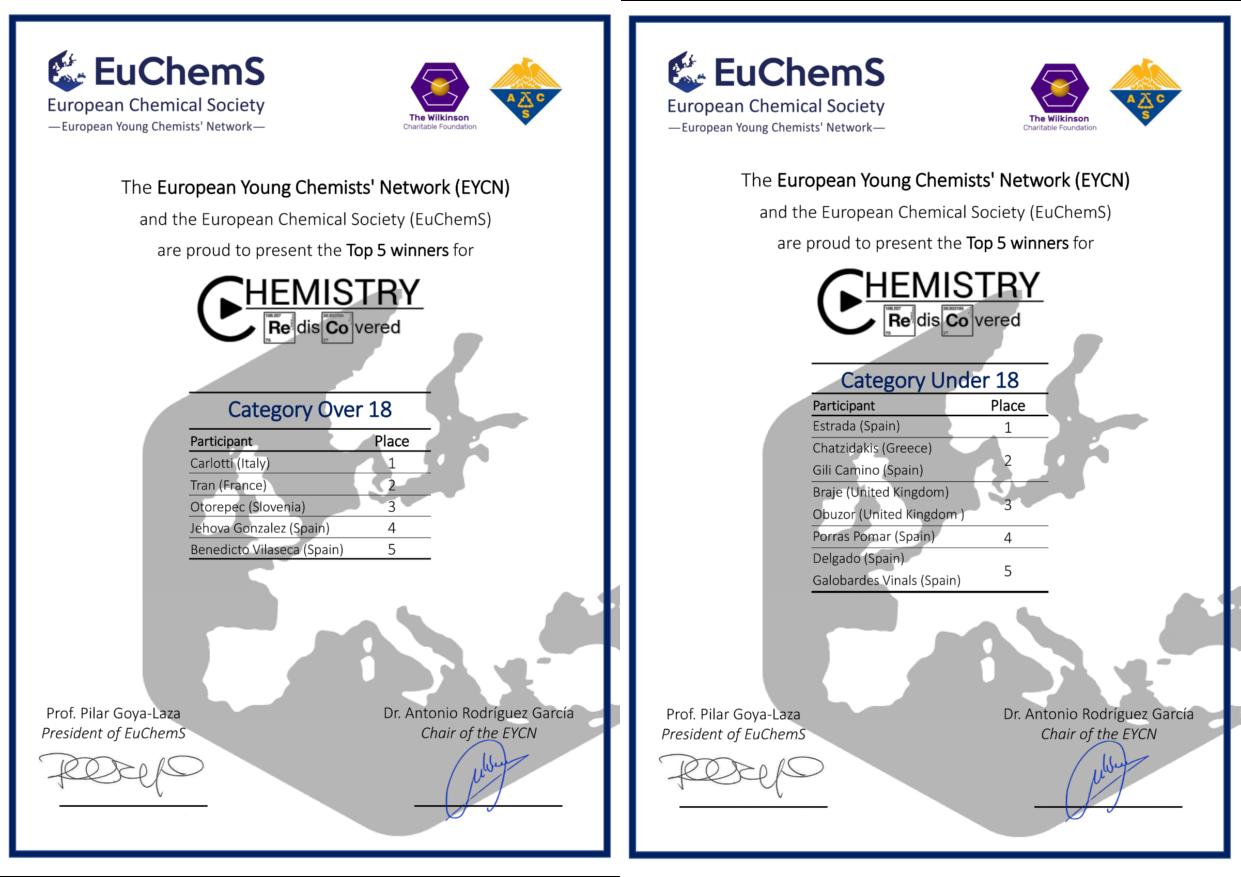 EuChemS Chemistry Rediscovered - EuChemS